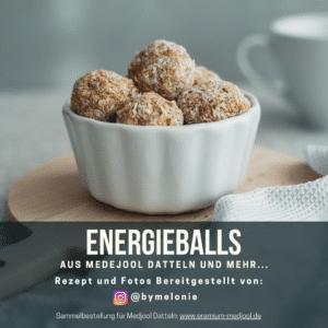 Energyballs aus Premium Medjool Datteln, Karotte und Ingwer