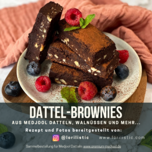 Dattel-Brownies - Backen mit Premium Medjool Datteln