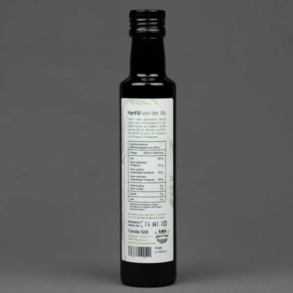 Hanföl von der Alb 250 ml - Inhaltsangaben