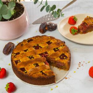 Vegane Linzer Torte ohne Zucker